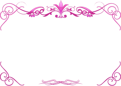 Pink luxury decorative frame