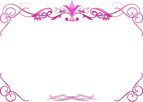 핑크의 고급 장식 프레임