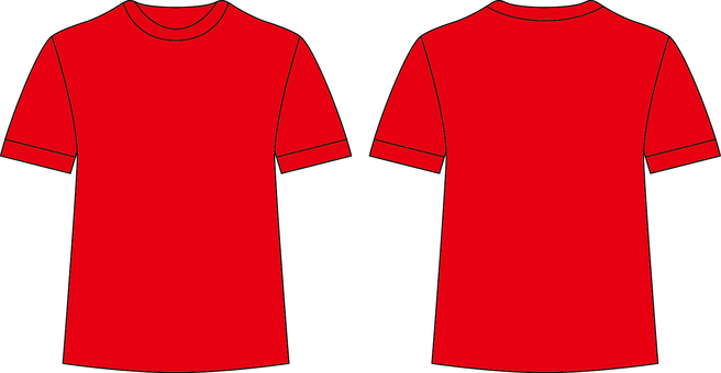 T-shirt _ front / back _ red