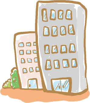 A little urban building illustration