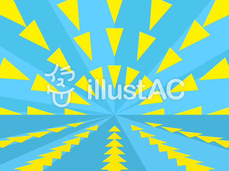 三角形を使った放射状の背景2a