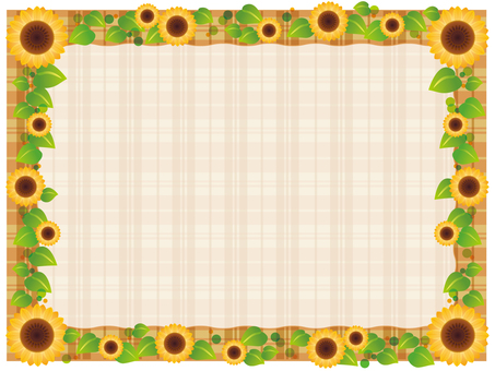 Sunflower brown check frame
