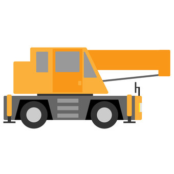 Crane car / rough terrain crane