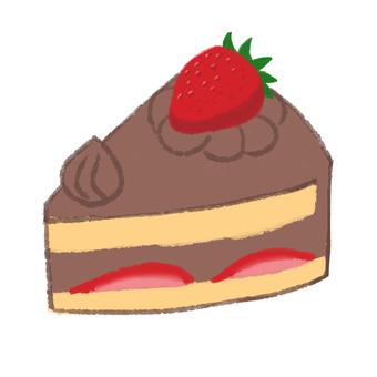Short cake chocolate