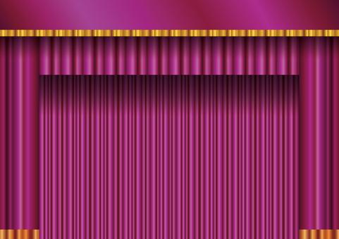 Background frame frame Curtain curtain curtain velvet red purple