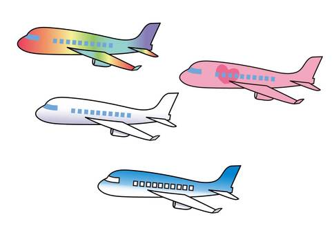Various airplanes