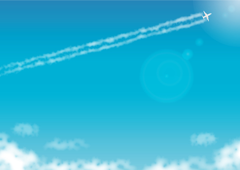 Background of the contrail