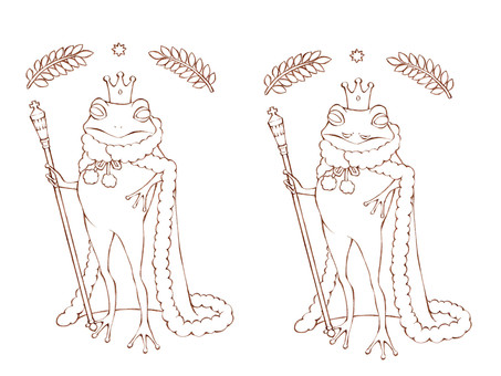 The king of frog (line drawing)