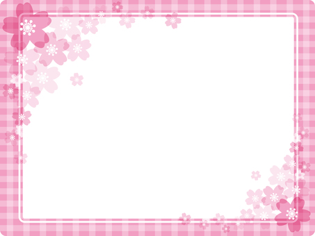 Pink check · cherry background