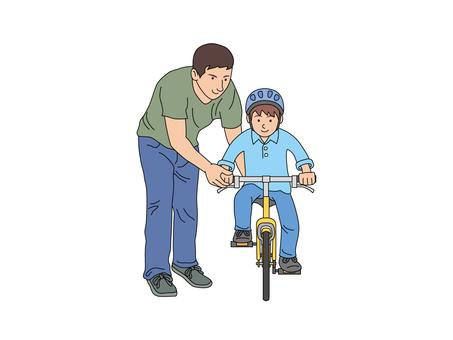 자전거 연습을하는 아들과 아빠 2