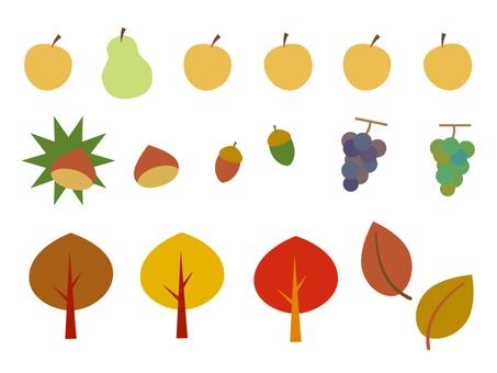 Autumn food, leaves