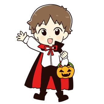 ハロウィンの仮装(男の子・吸血鬼)
