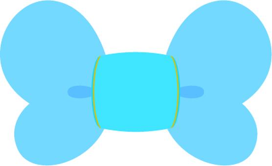 Галстук-бабочка (голубой)