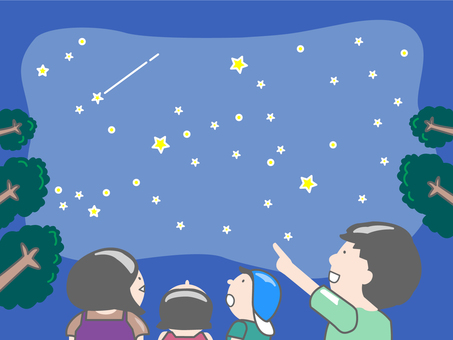 Summer starry sky viewing party_family