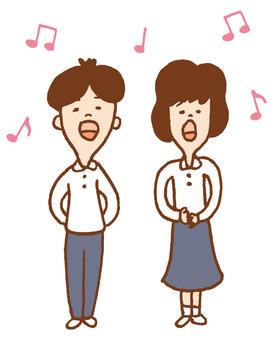 Singing men and women