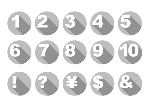 Numeric buttons [Gray]