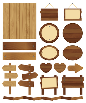 Wooden decoration set