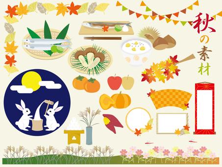 Various materials of autumn