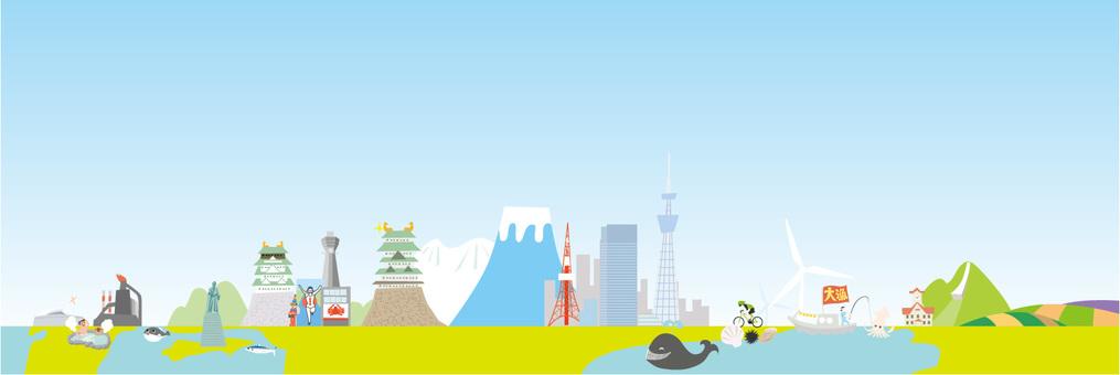 일본 횡단 이미지