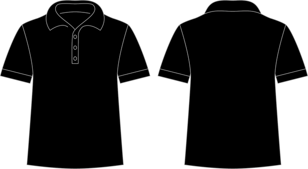 Polo shirt _ front / back _ black