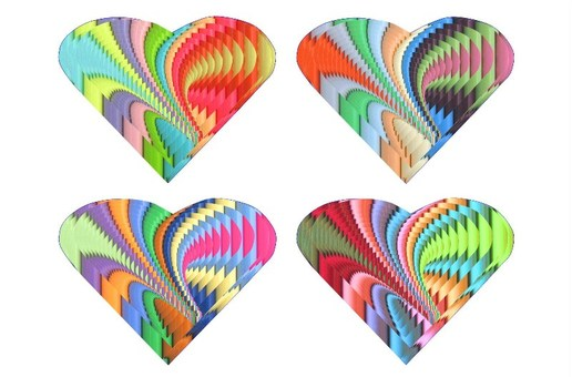 Heart shaped pattern design
