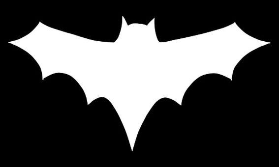 Bat / Silhouette Black & White Reverse Ver