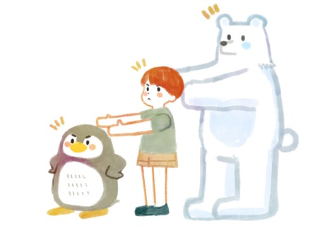 Bears, penguins and boys who do before