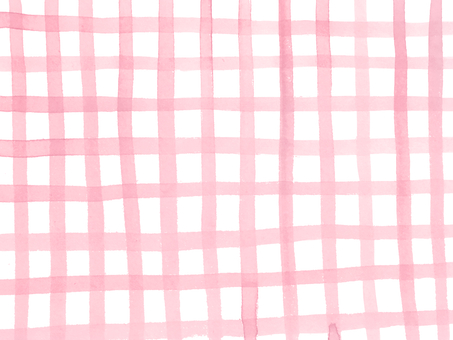 Hand-painted watercolor check pink