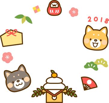2018年賀状ワンポイント_縁起物リース