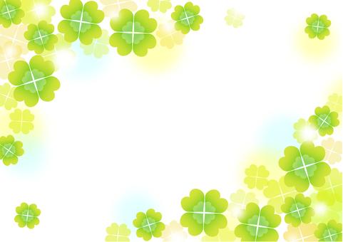 Four leaf background clover