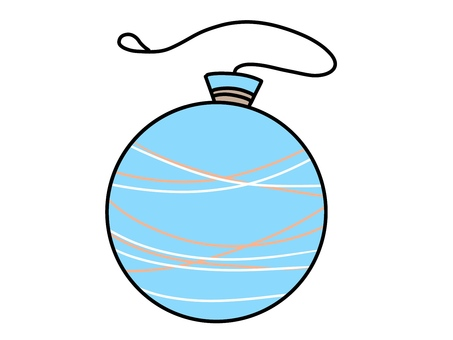 Illustration 02 of light blue water balloon of summer festival