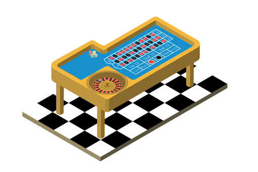 Roulette table isometric view