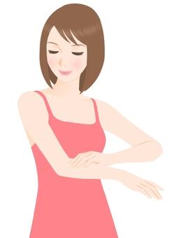 Arm skin care (underwear pink)