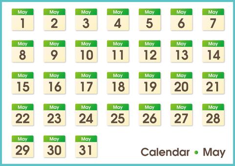 Calendar, May