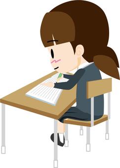 Studying 03 (female student)
