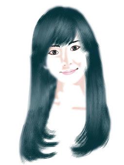 Long-haired women 03