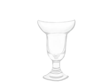 Parfait glass with a round shape translucent