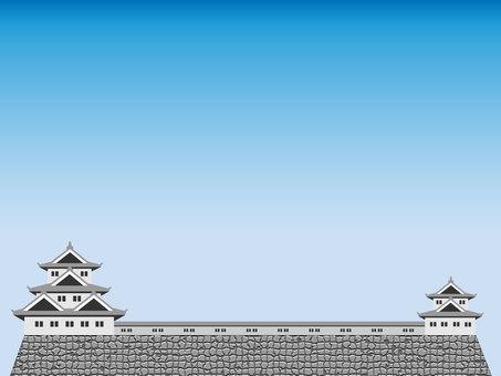 Japanese castle frame 1