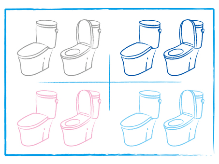 Toilet combination Hand washing None Tank round drawing