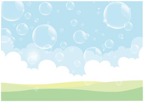 Soap bubble scenery