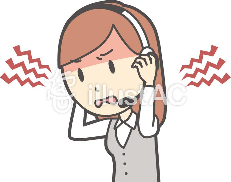 コールセンター女性-021-バストのイラスト