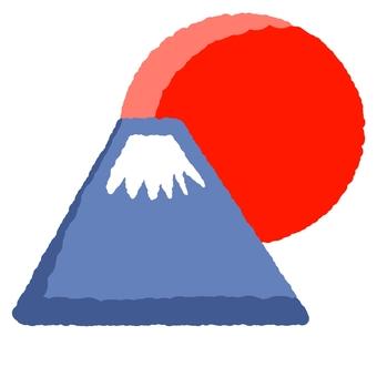 Fuji and first sunrise ④