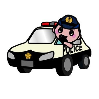 Police car and police officer