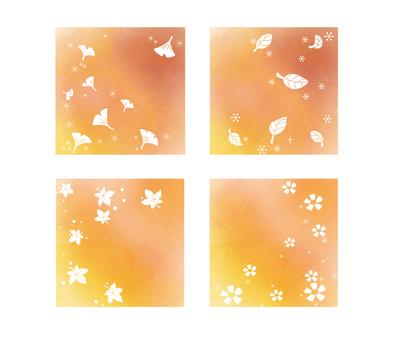 Autumn background (orange set)