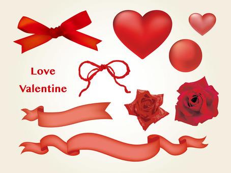 Valentine style motif