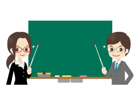 B030_男女教師と黒板