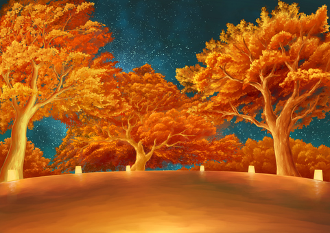Autumn leaves light up background