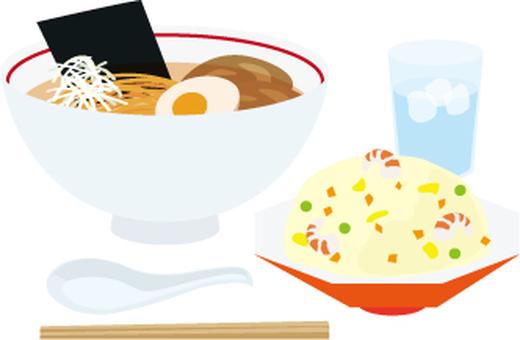Ramen fried rice set