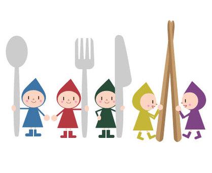 Dwarf cutlery