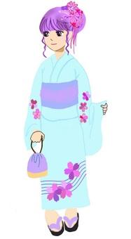 Yukata Girls Women Festival Kimono Japanese clothes Summer